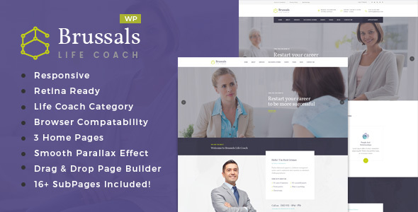Brussals – Personal Development Coach WordPress Theme
