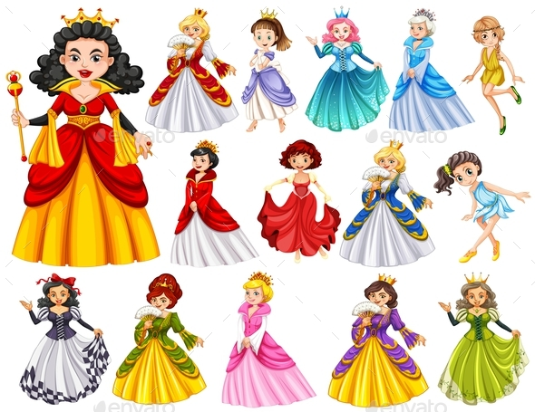 Set of Queens and Princess - People Characters