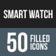 Smart Watch Flat Round Corner Icons