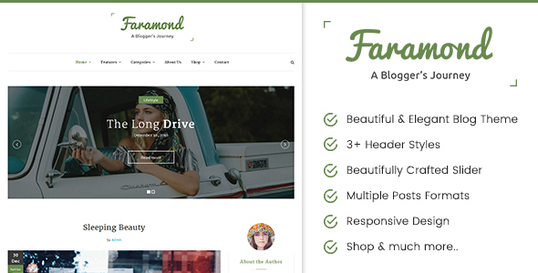 Faramond – Creative Blog WordPress Theme