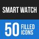 Smart Watch Blue & Black Icons