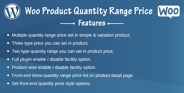 Woo Product Quantity Range Price - CodeCanyon Item for Sale