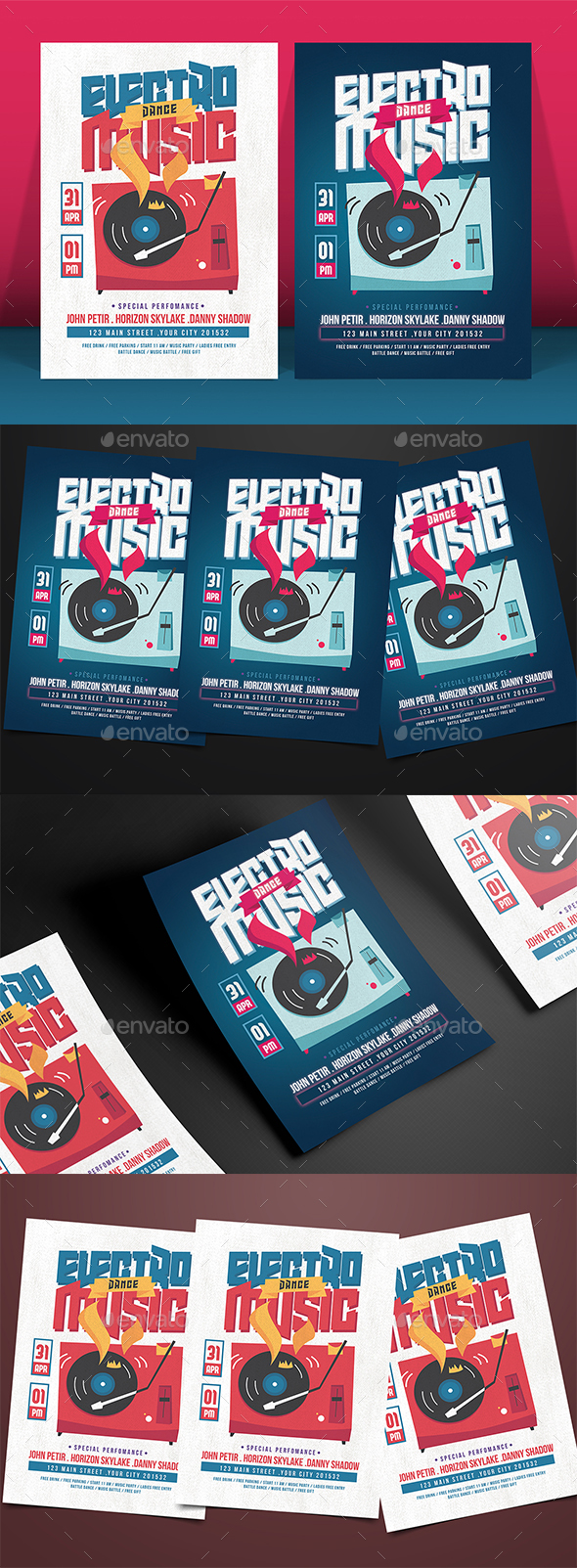 EDM Music Party - Events Flyers