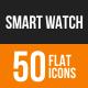 Smart Watch Flat Round Icons