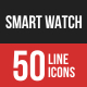 Smart Watch Filled Line Icons