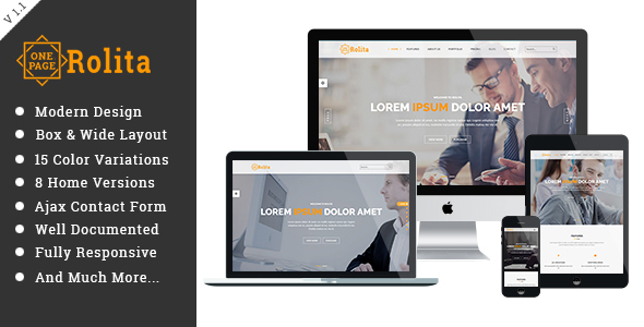 Rolita - One Page Multipurpose HTML Template