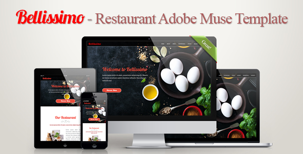 Bellissimo - Restaurant Adobe Muse Template