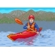 The Kayaker Is in the Water Campaign. - GraphicRiver Item for Sale