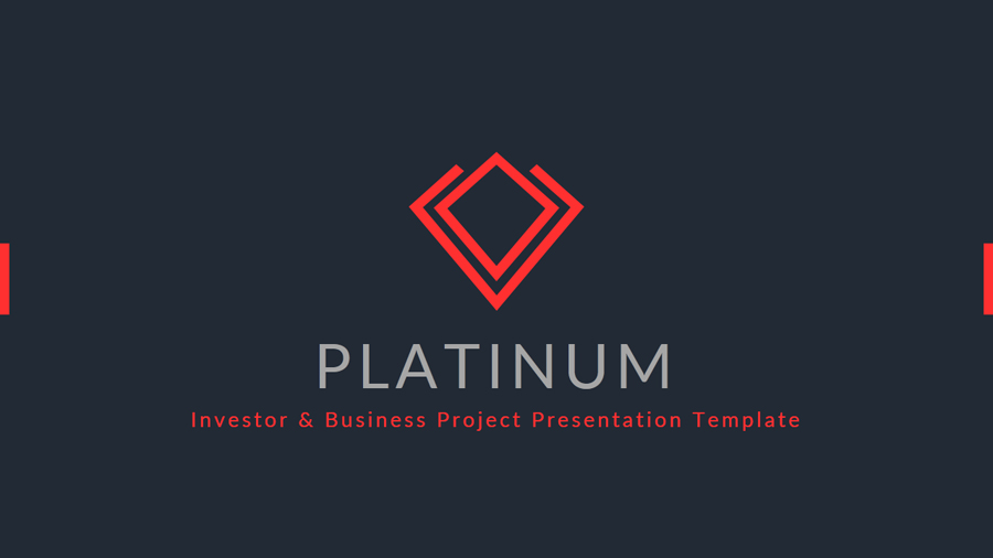 platinum - 2017 project business & investor presentation template, Presentation templates