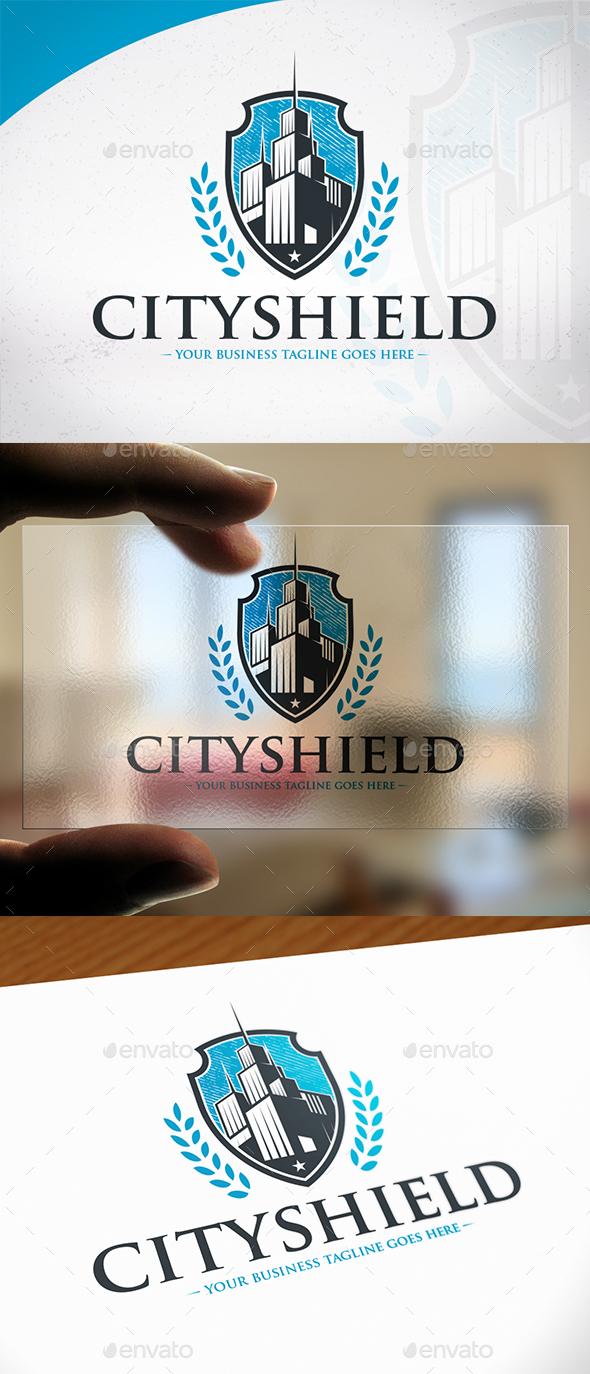 City Shield Logo Design - Buildings Logo Templates