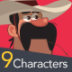 9 Characters - People of the World - GraphicRiver Item for Sale