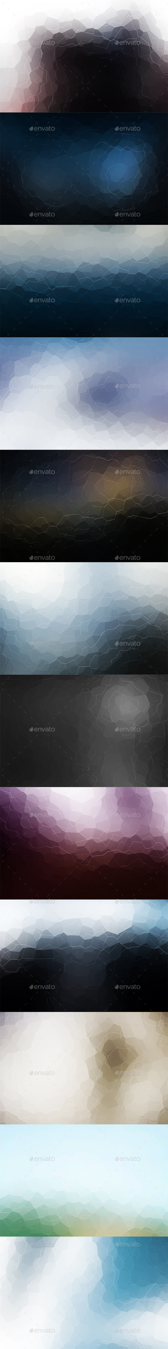Crystallized Backgrounds Vol6 - Abstract Backgrounds