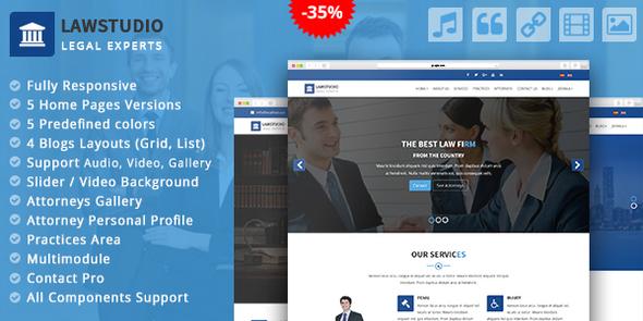 LawStudio - Lawyer and Law Firm Joomla Template - Joomla CMS Themes