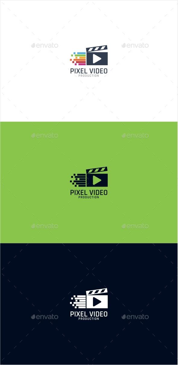 Pixel Video Logo - Symbols Logo Templates