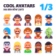 Set of Avatars 1/3 - GraphicRiver Item for Sale