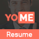 YoMe - Multipurpose Resume Joomla Template - ThemeForest Item for Sale