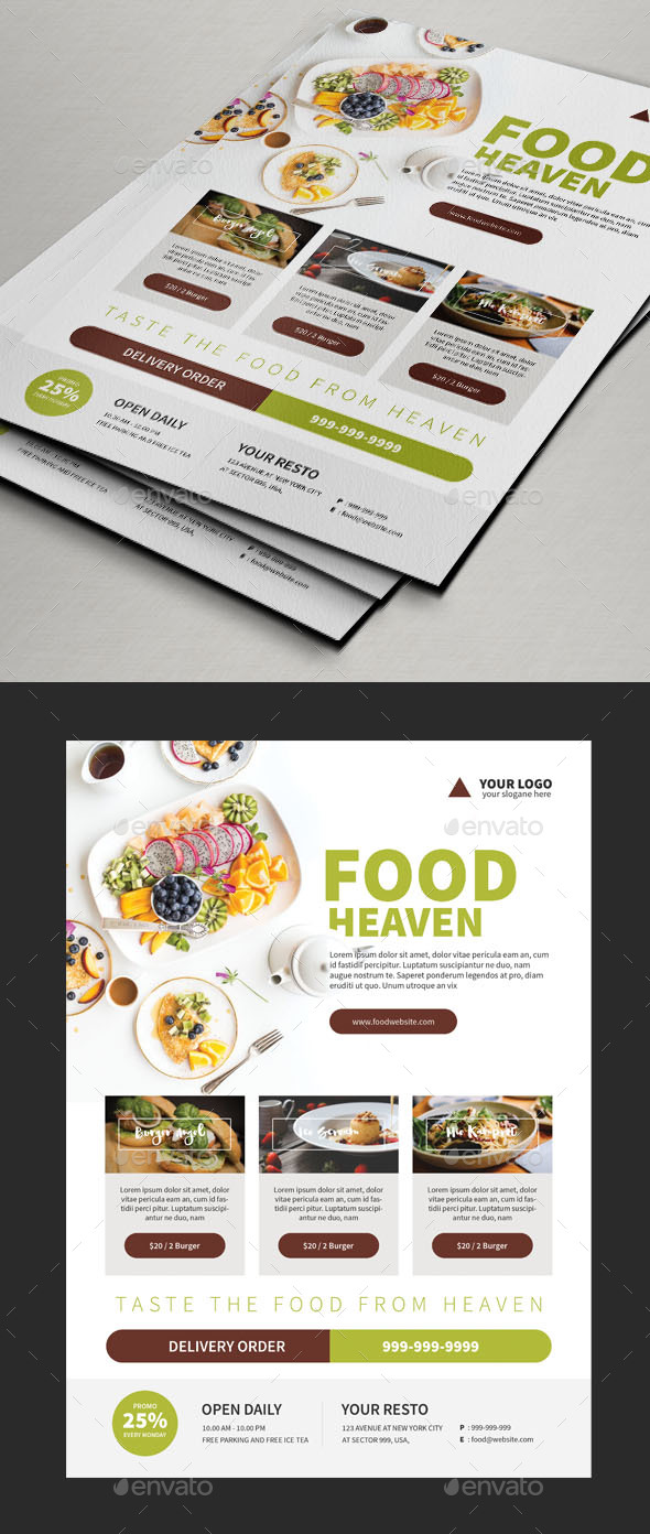 Foods Flyer Templates - Restaurant Flyers