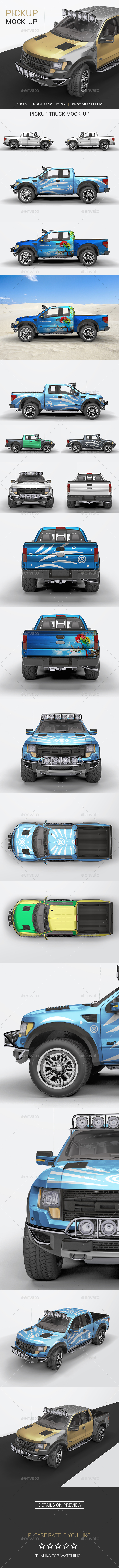 Pick Up Truck Mock-Up