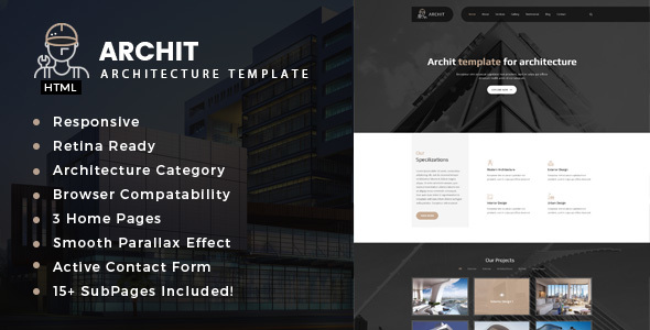 Archit - Architecture, Interior and Renovation Template - Business Corporate