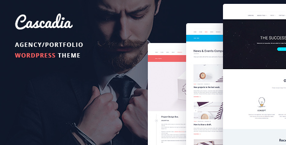 Cascadia – Agency/Portfolio WordPress Theme