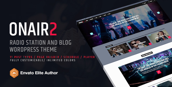 Onair2: Radio Station WordPress Theme