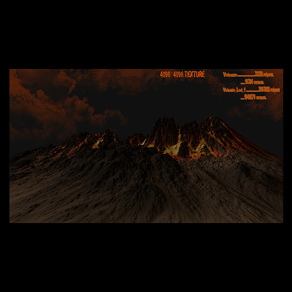 volcano 1 - 3DOcean Item for Sale