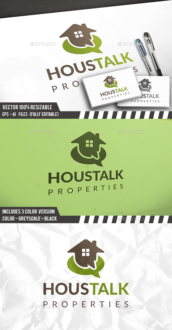 House Talk Logo - Buildings Logo Templates
