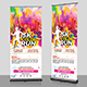 Color Run Fest Roll-Up Banner