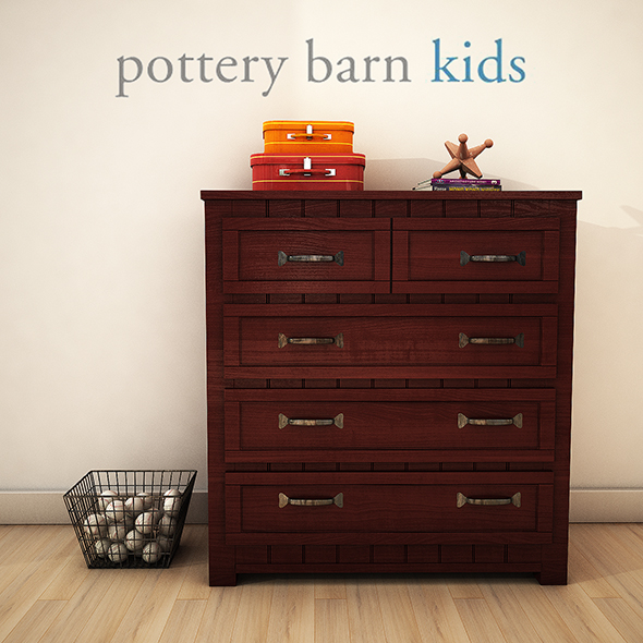 PotteryBarn BeldenDrawerChest - 3DOcean Item for Sale