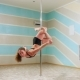 Beautiful Woman Doing Pole Dance, Female Dancer, Girl Dancing, Fitness and Sport - VideoHive Item for Sale