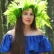 Portrait of a Girl with a Wreath on His Head. Beautiful White Girl with Freckles, a Wreath of Fern - VideoHive Item for Sale
