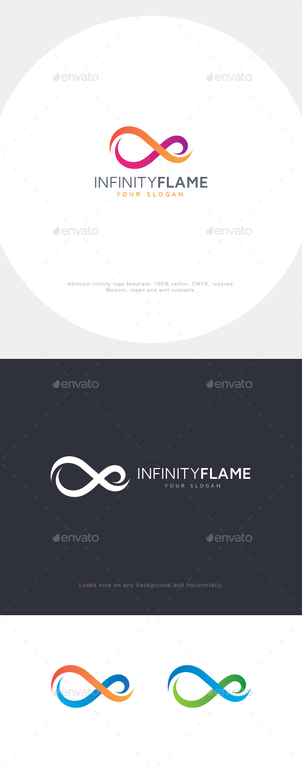 Infinity Flame Logo - Abstract Logo Templates