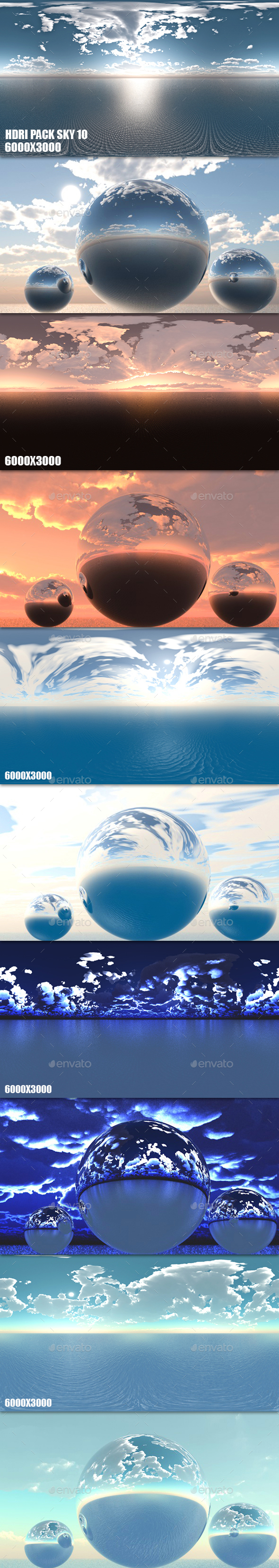 HDRI Pack Sky 10 - 3DOcean Item for Sale