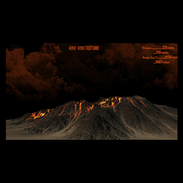 volcano 3 - 3DOcean Item for Sale