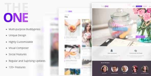 The ONE – Social Multipurpose WordPress Theme