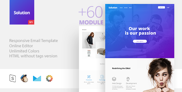 Solution – Responsive Email + StampReady Builder
