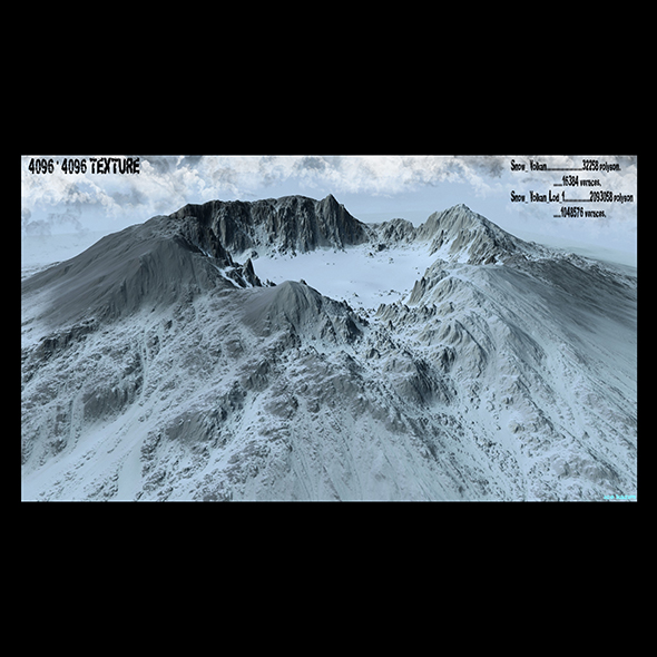 snow mountain 6 - 3DOcean Item for Sale