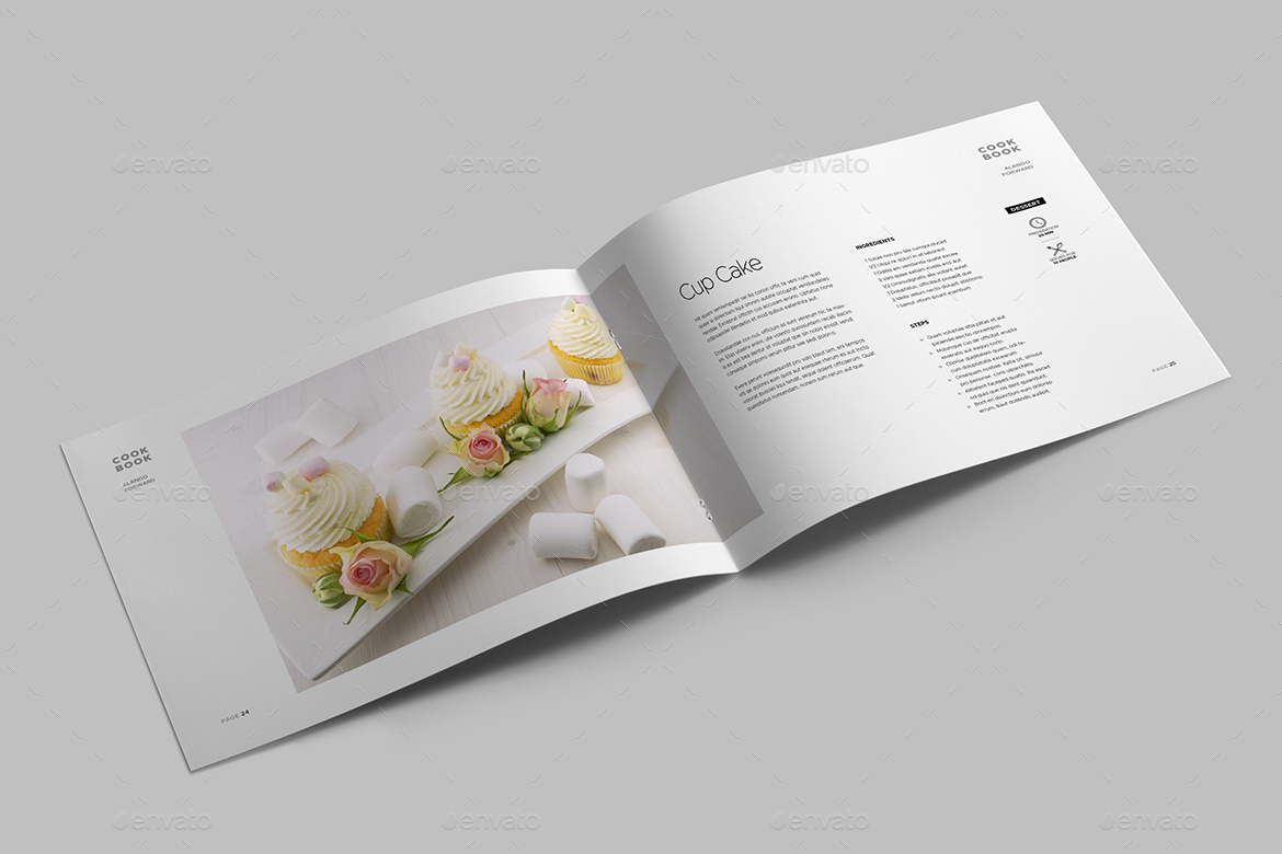 Cookbook Cover Template Maker ~ Cookbook template by meenom graphicriver
