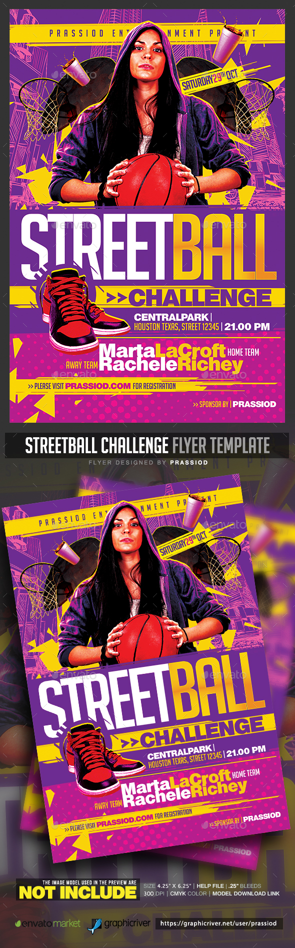 Streetball Challenge Flyer Template - Sports Events