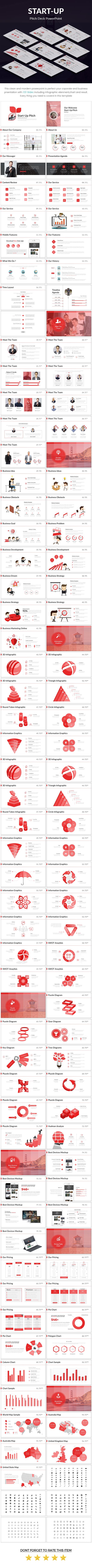 Start-up Pitch Deck - Pitch Deck PowerPoint Templates