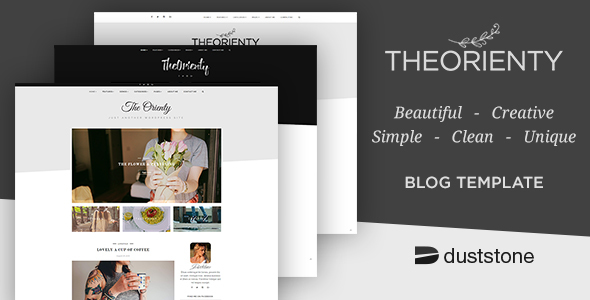 TheOrienty – A Scew Header Blog Theme