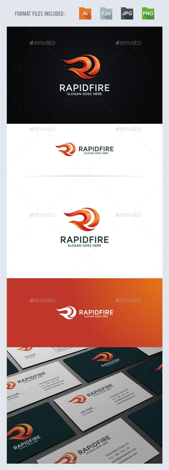 Rapid Fire - R Letter Logo Template - Letters Logo Templates