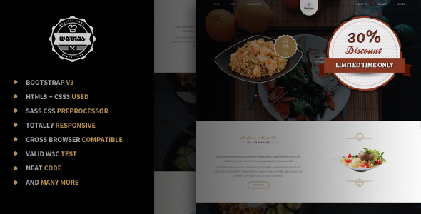 Warnas - Awesome Cafe & Restaurant Template by suavedigital