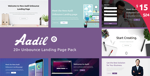Multi-Purpose Template with Unbounce Page Builder – Aadil