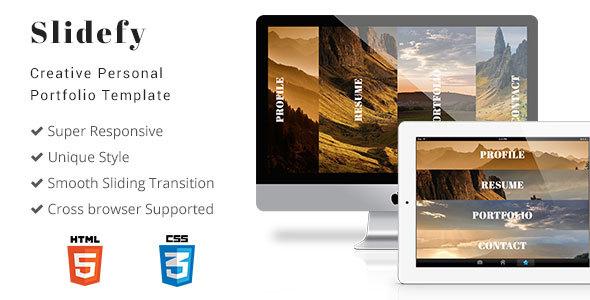 Slidefy – Creative Personal Portfolio Template