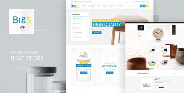 Big Shop - Furniture Responsive WooCommerce WordPress Theme - WooCommerce eCommerce