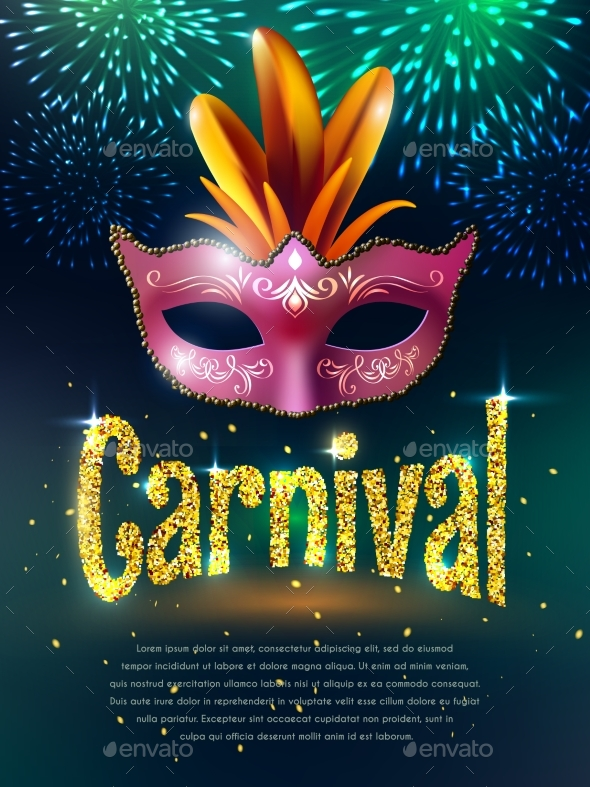 Carnival Masquerade Background Poster - Seasons/Holidays Conceptual