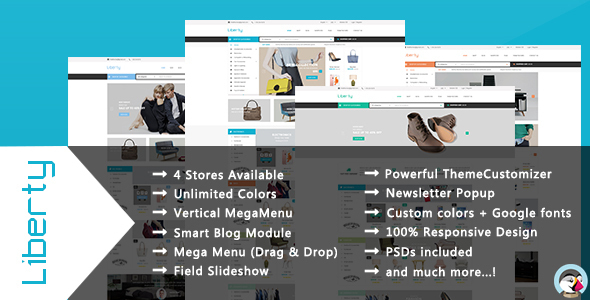 Liberty – Responsive Prestashop Theme