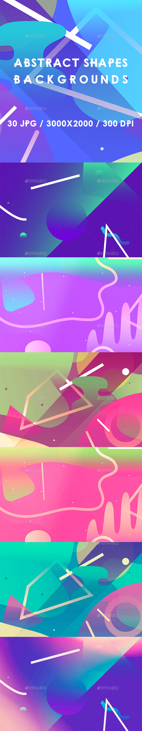 30 Abstract Shapes Backgrounds - Abstract Backgrounds