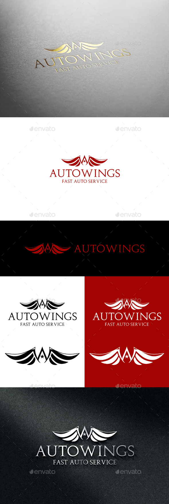 Auto Wings_v2 - Letters Logo Templates